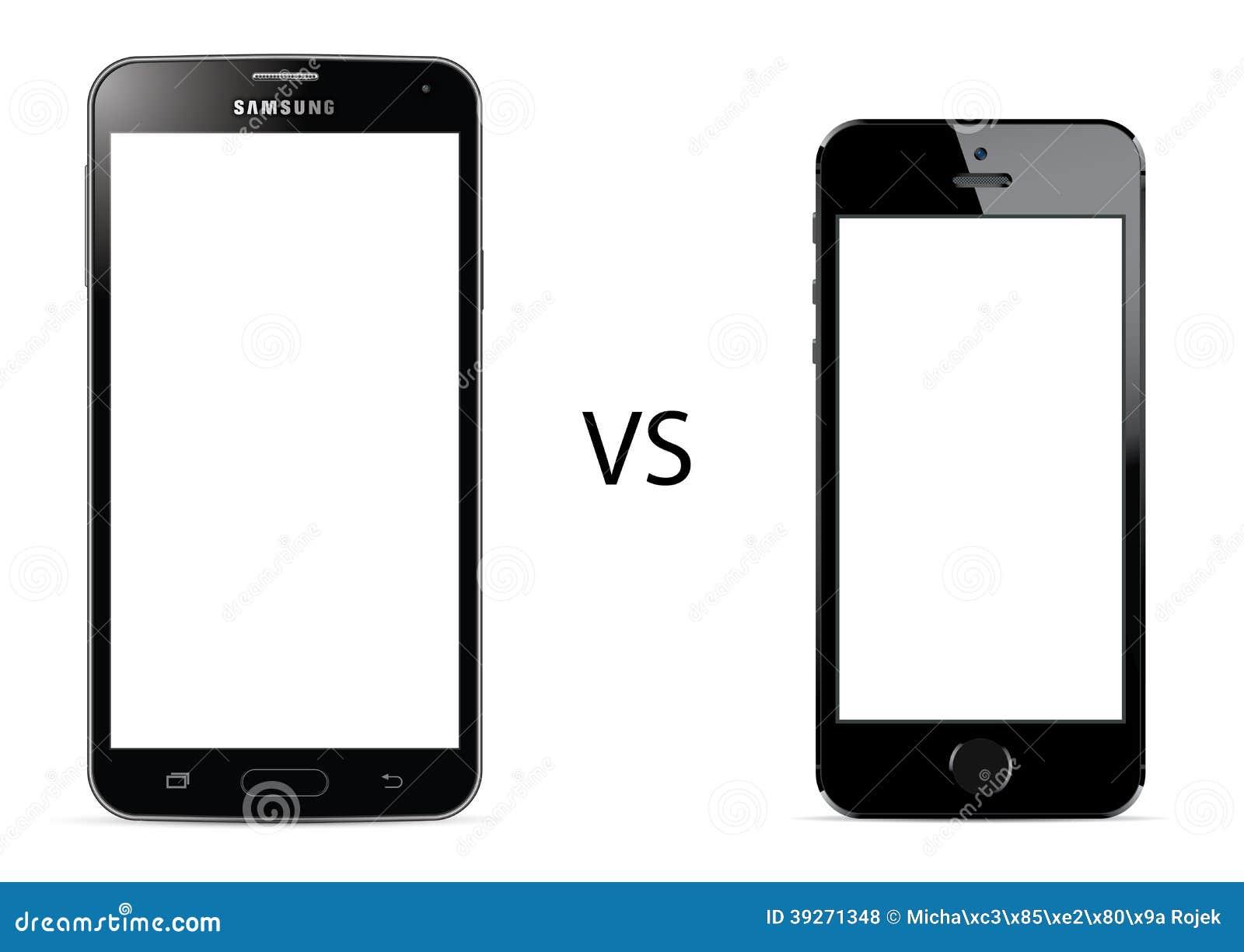 Samsung-Melkweg S5 versus Apple-iPhone 5s