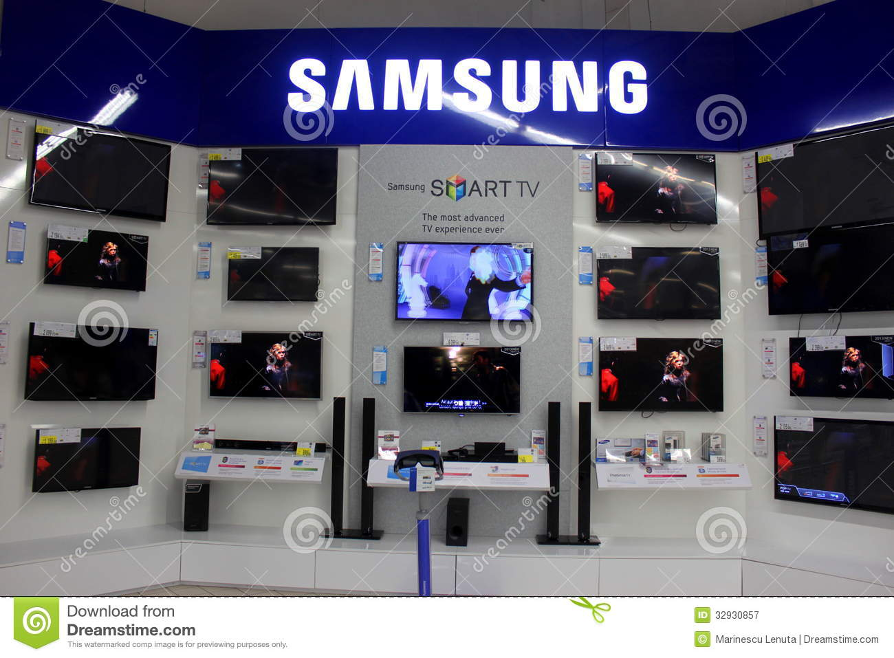 samsung smart tvs editorial photography image of crystal 32930857. Black Bedroom Furniture Sets. Home Design Ideas