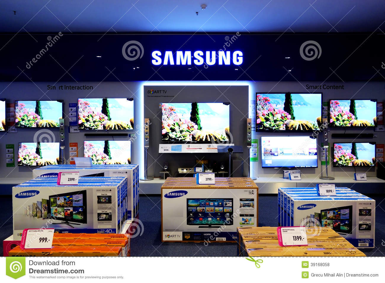 Samsung Television Smart Tv Editorial Stock Photo - Image of