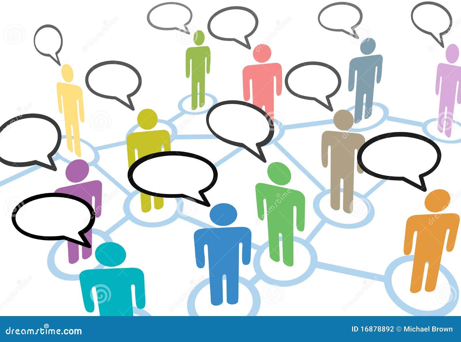 Samtal för anförande för anslutningsnätverksfolk socialt