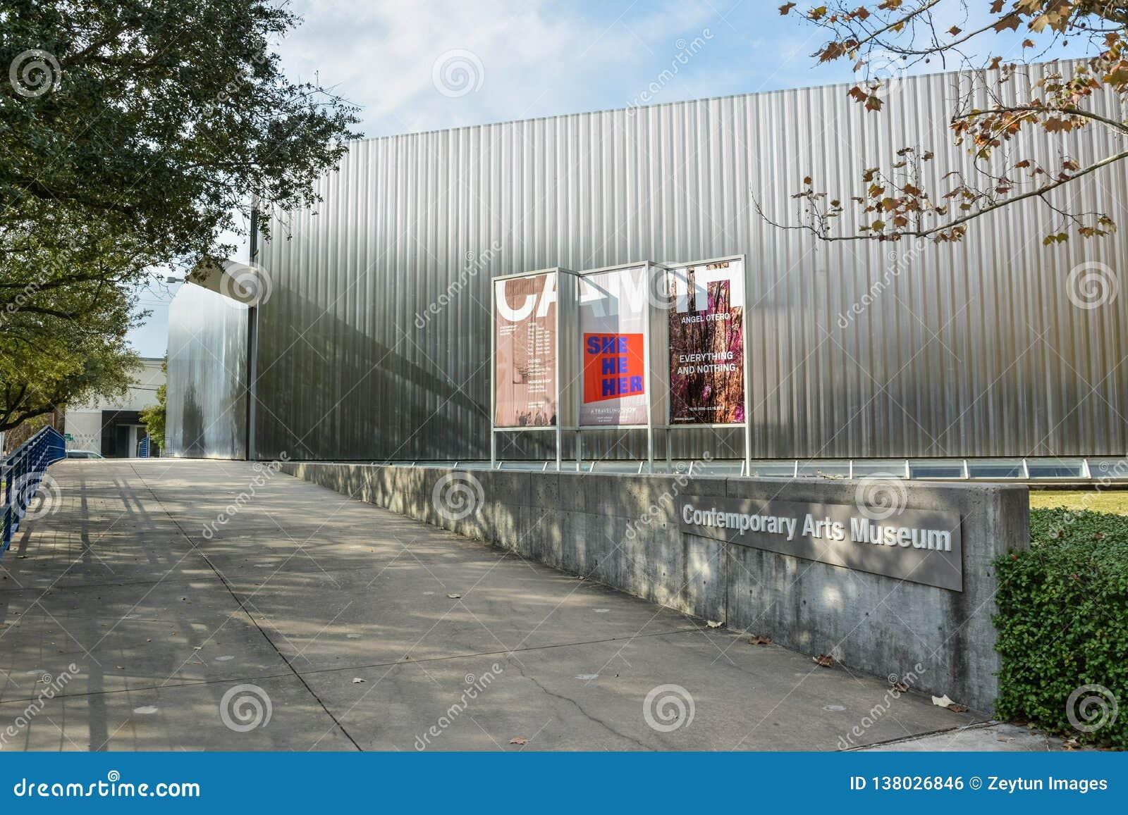 Samtida konstmuseum som buidling i Houston, TX