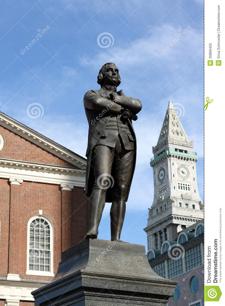 Samuel Adams Statue Boston MA Stock Photos - Image: 20866403