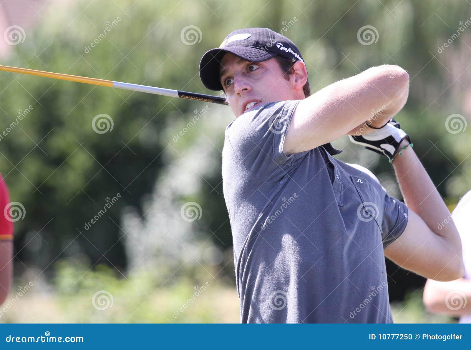 Samuel Aidan bij het golf Prevens Trpohee 2009