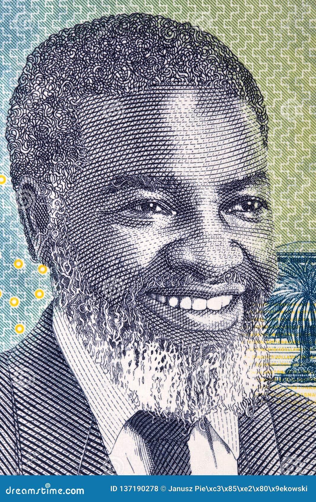 Samuel Daniel Shafiishuna Nujoma un retrato