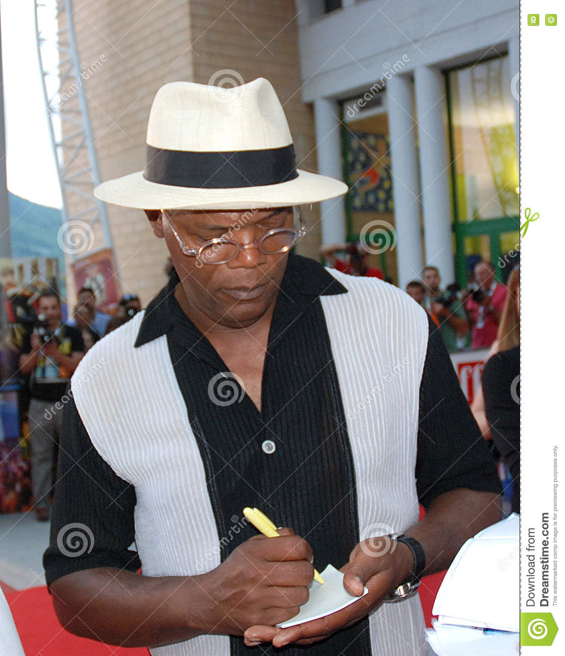 Samuel L  Jackson Al Giffoni Film Festival 2010 Editorial Photo