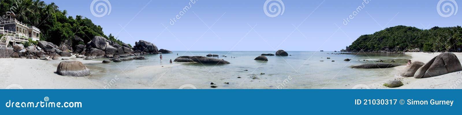 Samui thailand för semesterort för strandkohpanorama