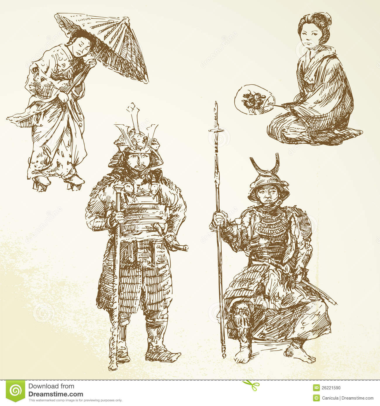 Samurai - warrior in Japanese tradition.