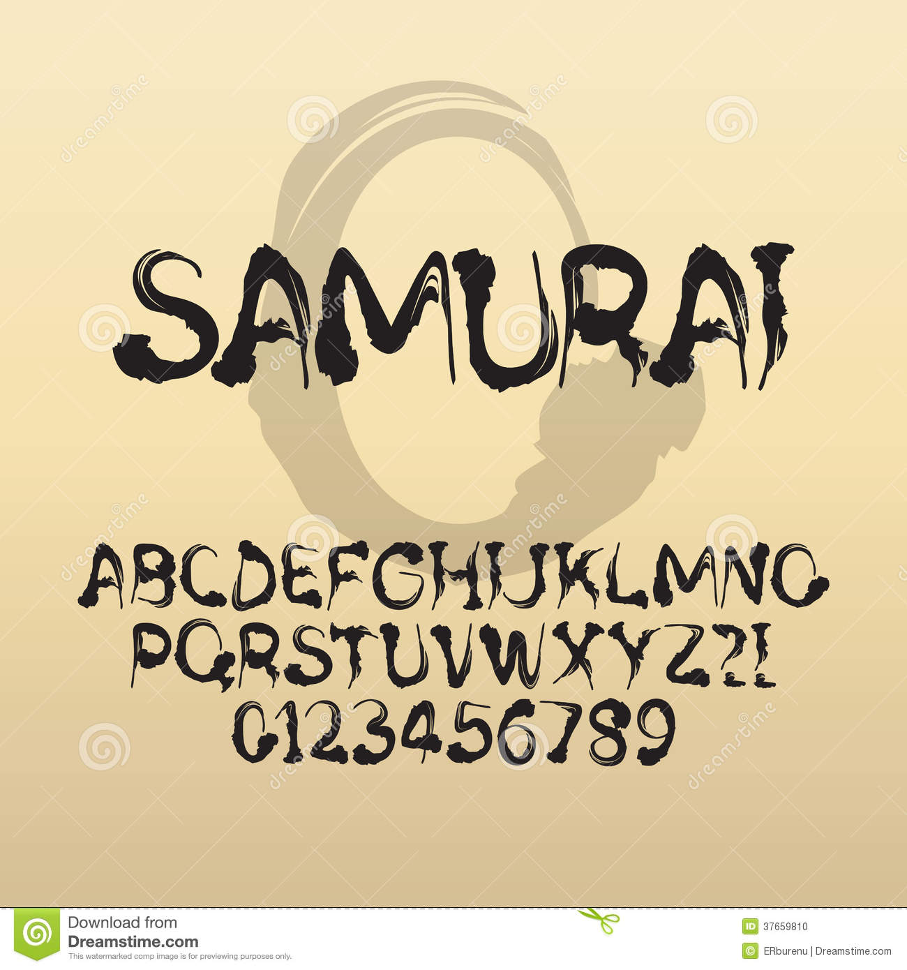 Asian Brush Font Samurai, Abstra...