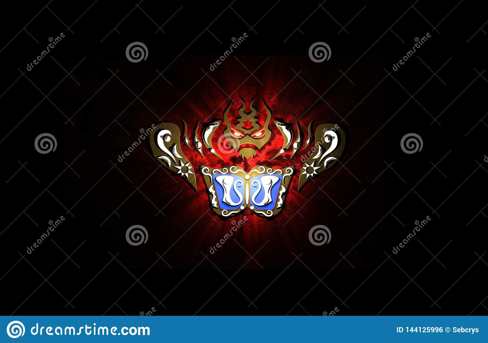 Samurai Armor Wallpaper Stock Illustration Illustration Of