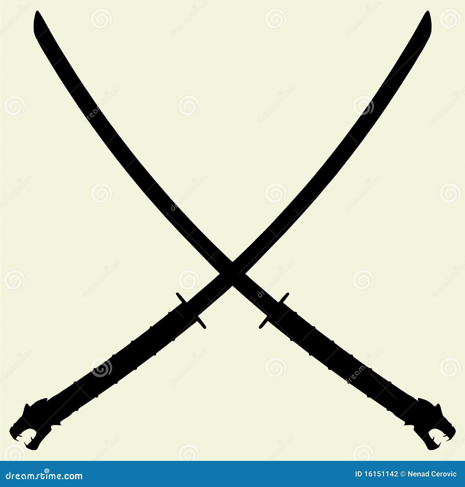 Samurai Katana Vector 01 Stock Photography - Image: 16151142