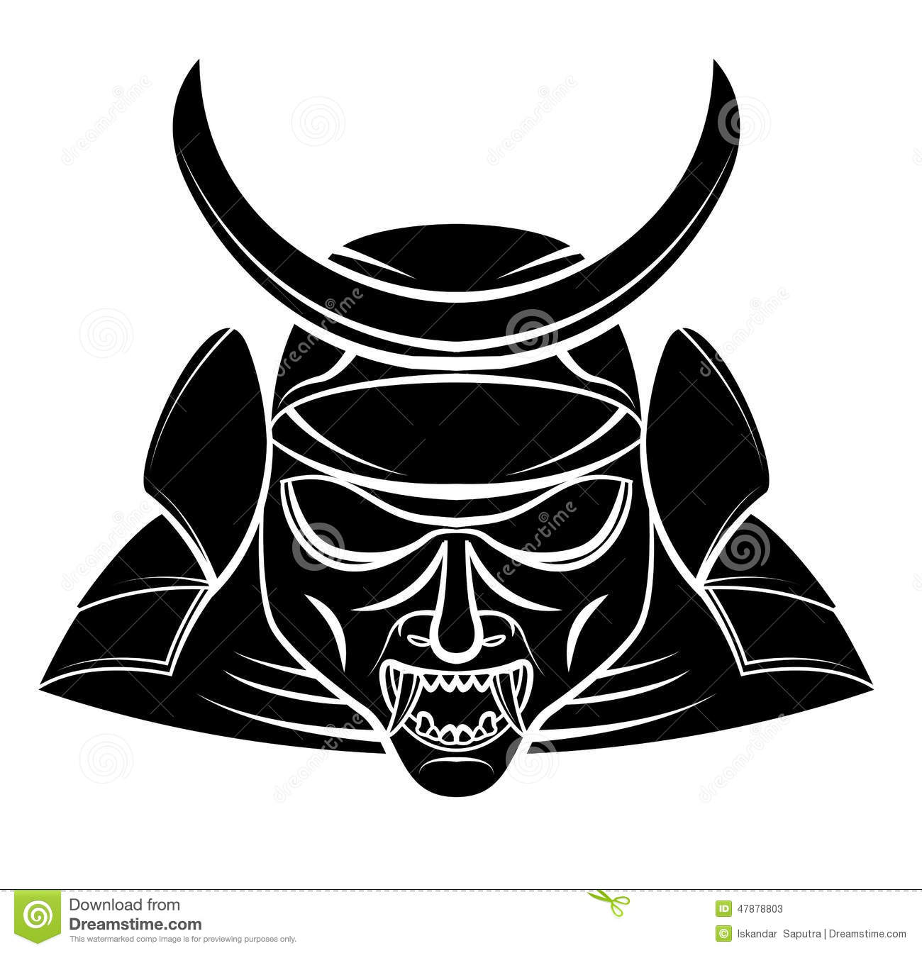 Samurai Mask Stock Vector - Image: 59566547