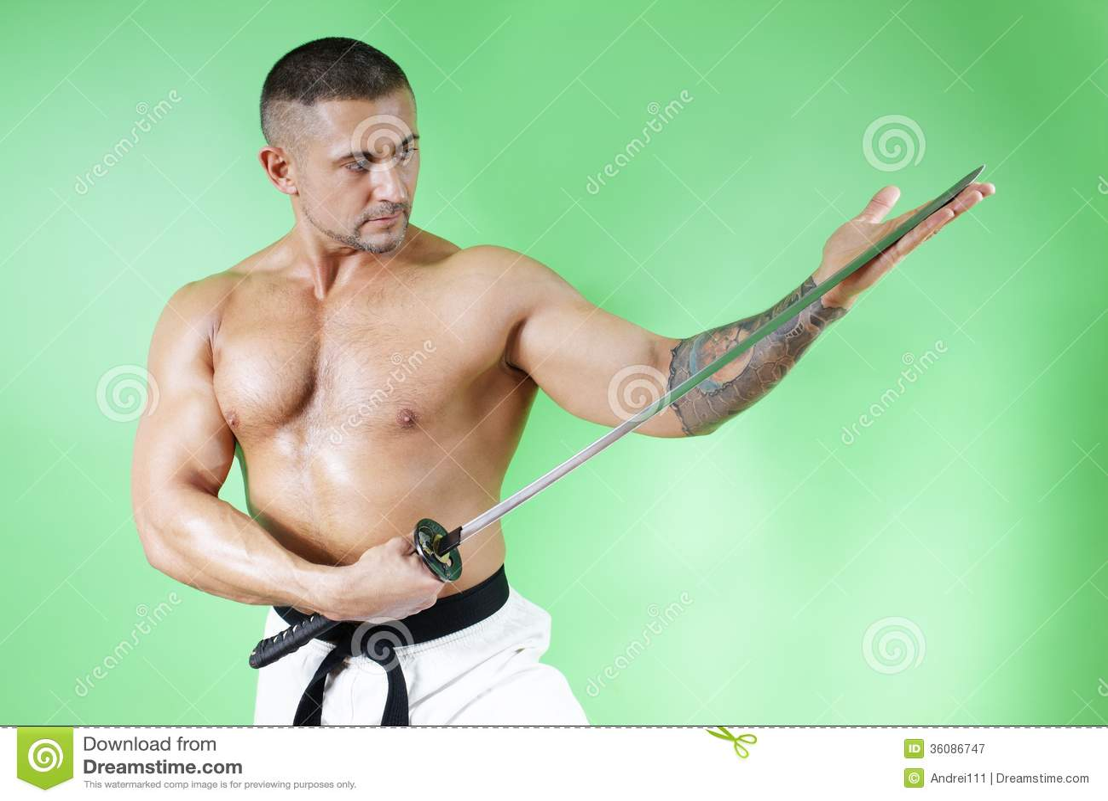 Samurai Stock Image Image Of Blade Horizontal Ninja 36086747