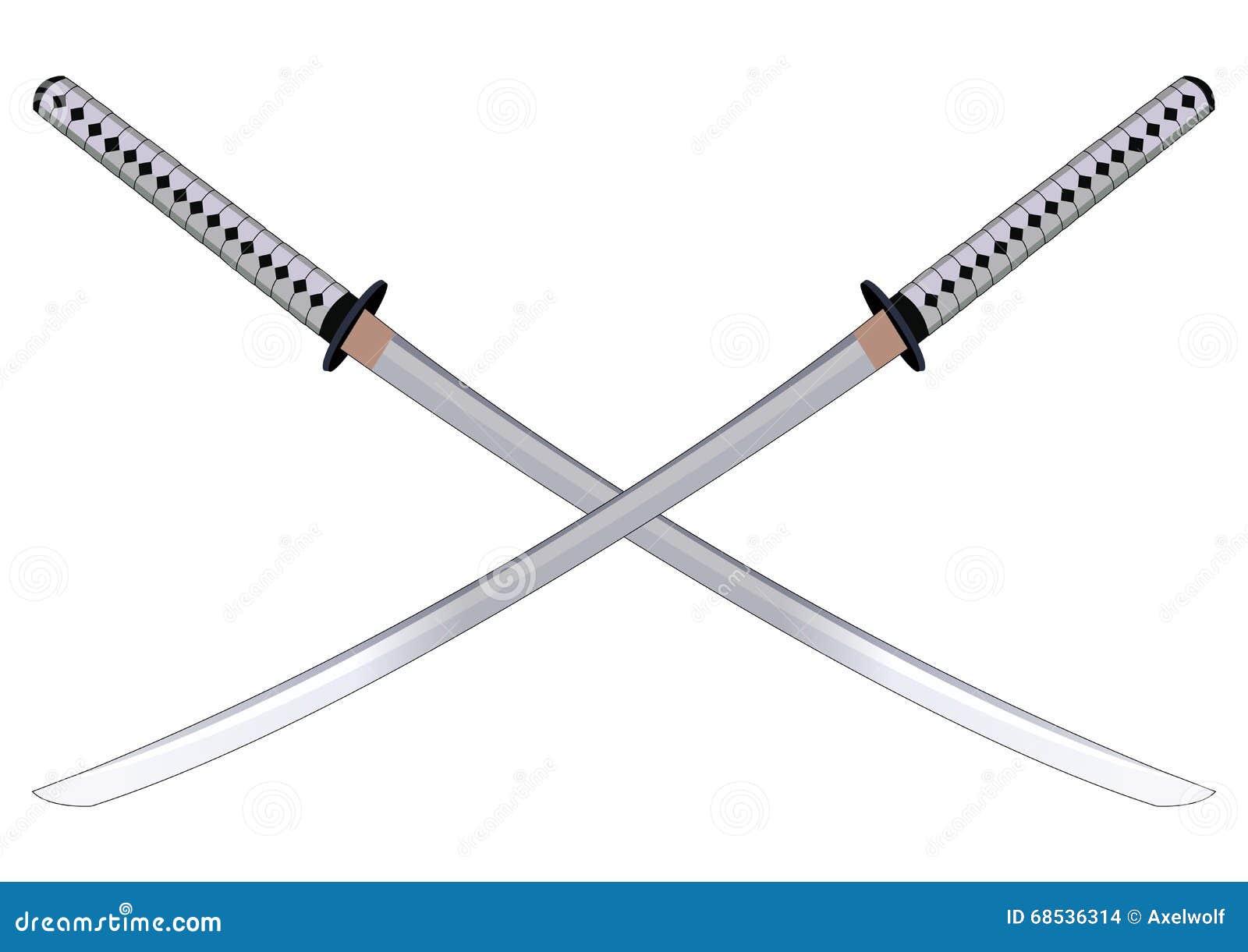 Samurai Swords. Vector Illustration. Stock Vector - Image ...