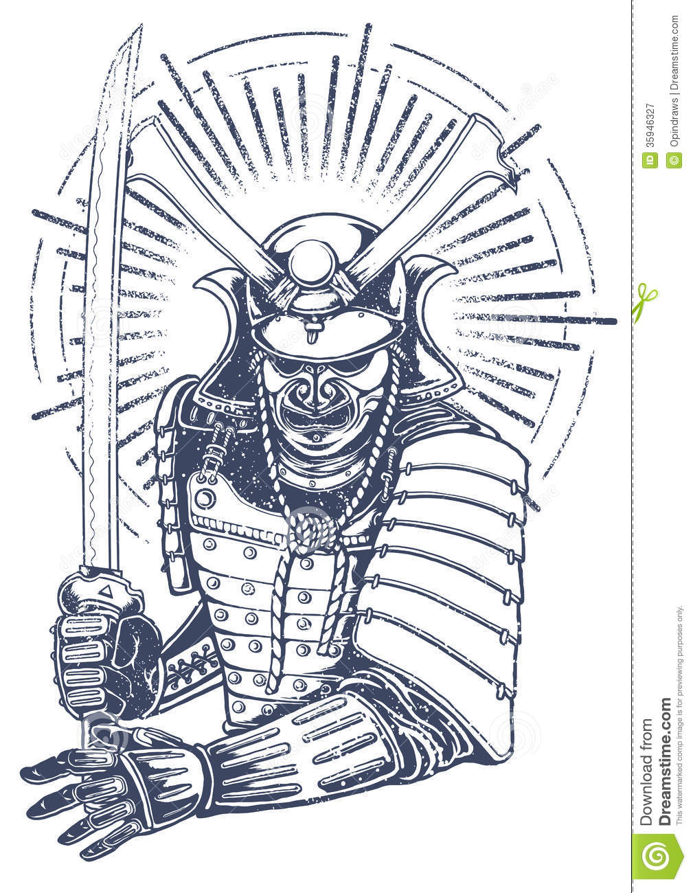 Samurai Warrior Royalty Free Stock Photography Image