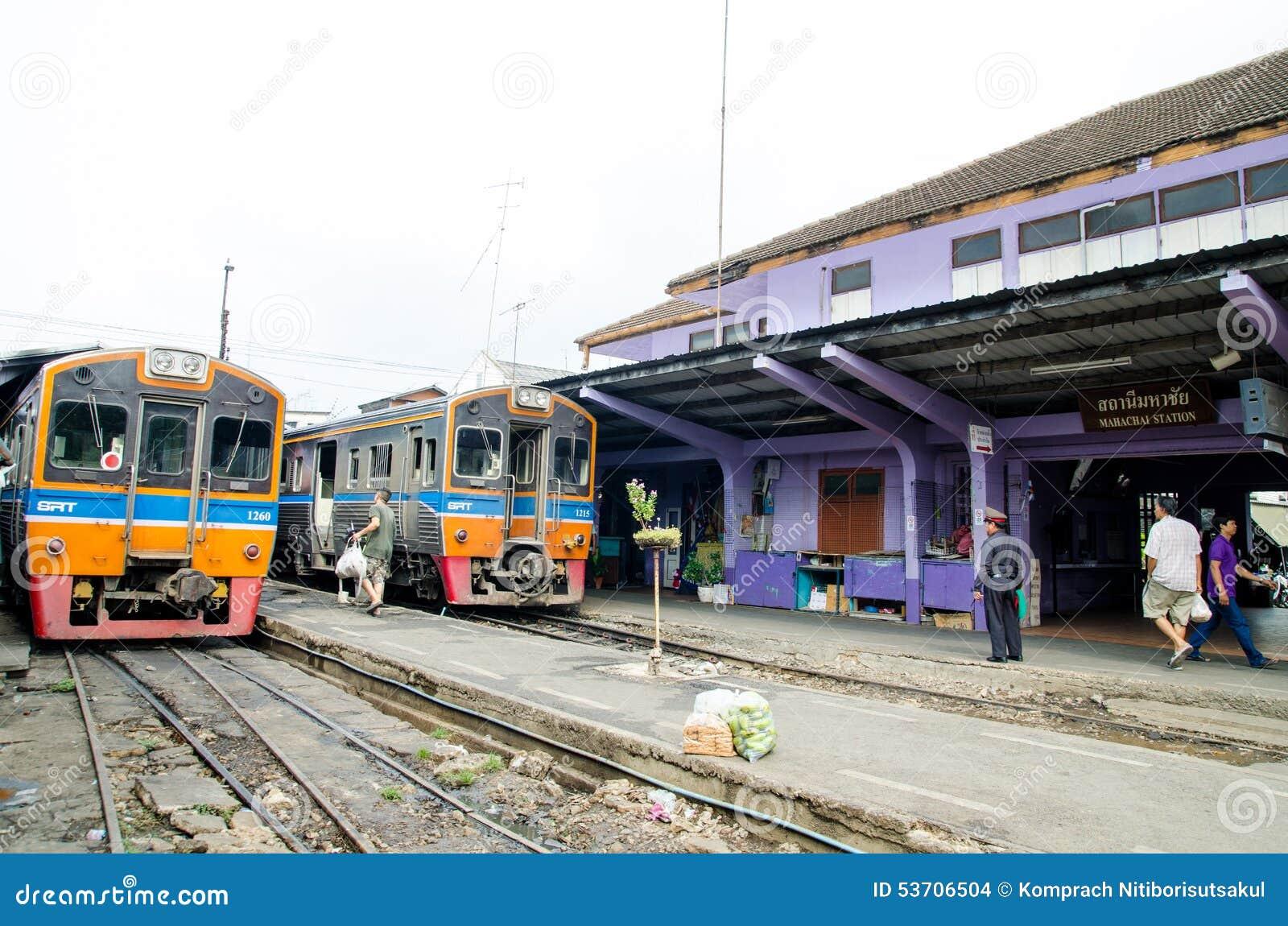 Samut Sakhon Thailand  city photo : Samut Sakhon, Thailand : Mahachai railway station Editorial Stock ...