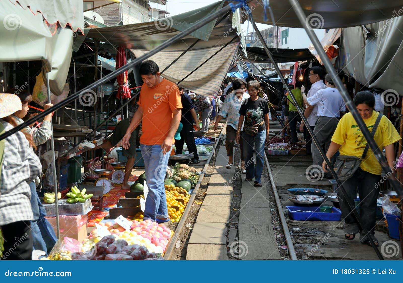 Samut Songkhram Thailand  city photo : Samut Songkhram, Thailand: Railway Market Editorial Image Image ...