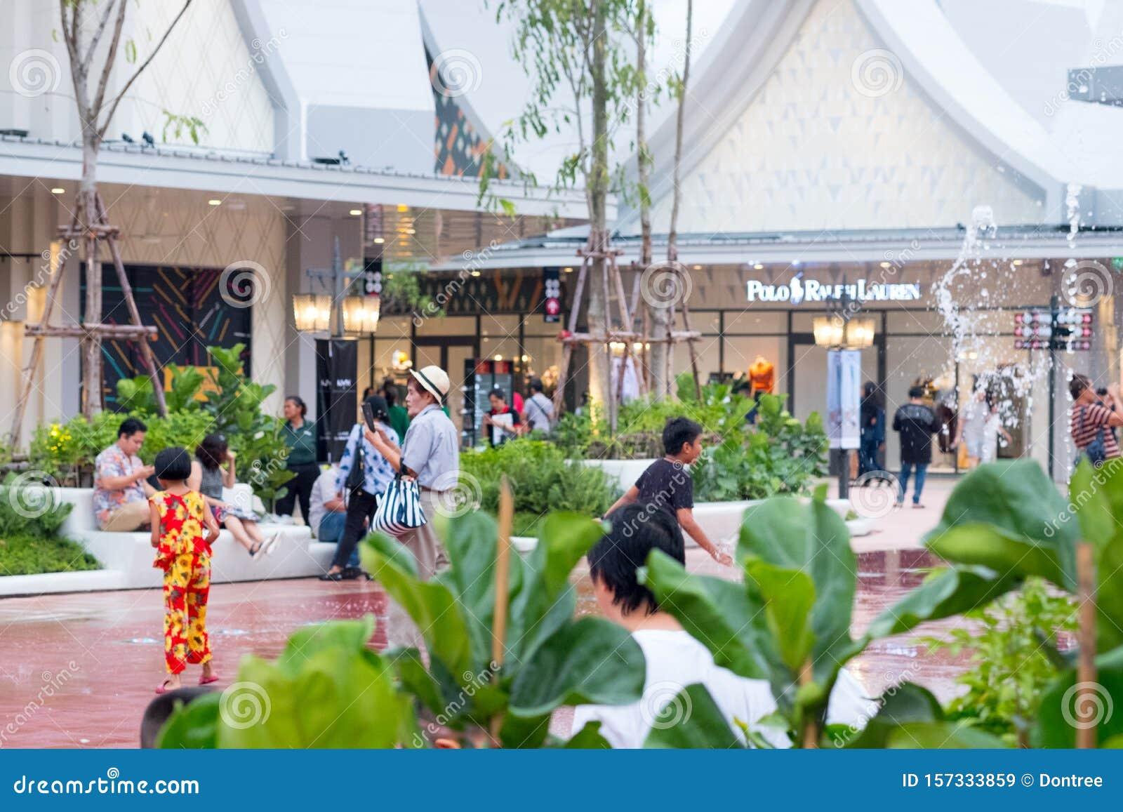 Samutprakarn, Thailand - August 31, 2019 : Central Village Bangkok Luxury Outlet is Thailand first international outlet shopping
