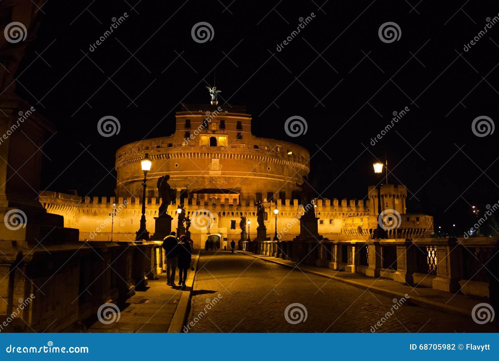 SAN Angelo Castle τη νύχτα