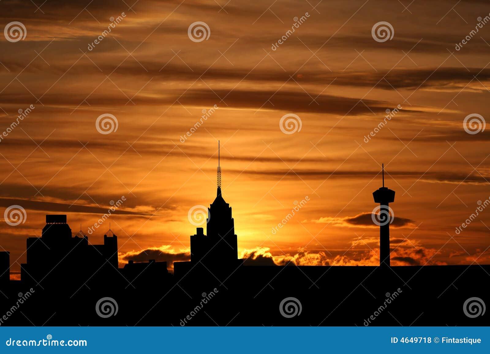 San Antonio au coucher du soleil