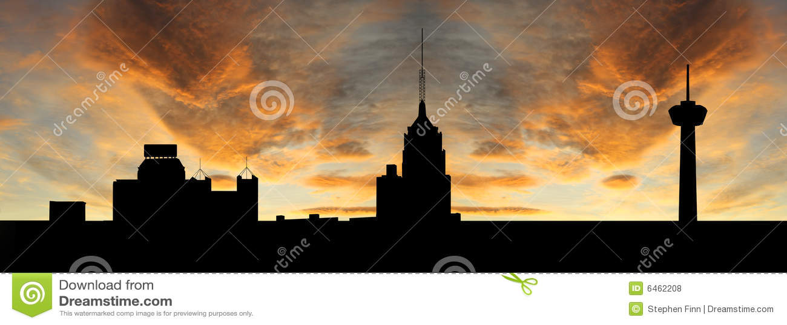 San Antonio bij zonsondergang