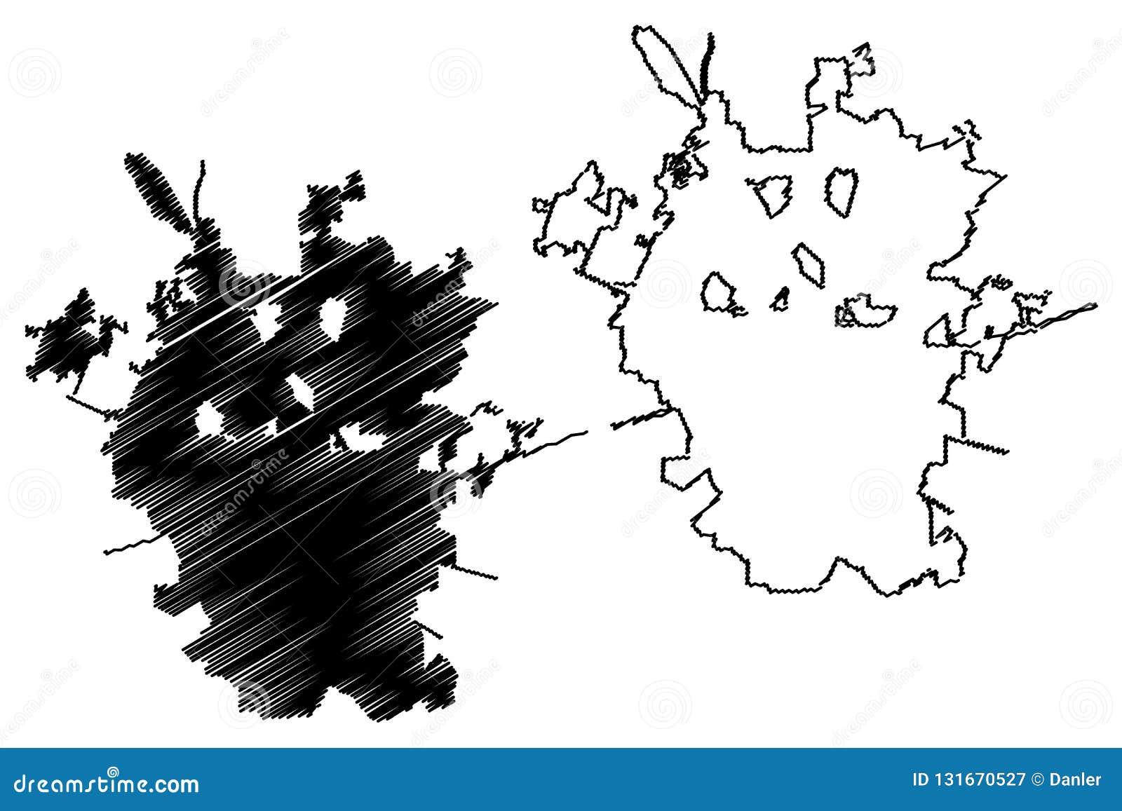 San Antonio City Map Vector Stock Vector - Illustration of doodle ...