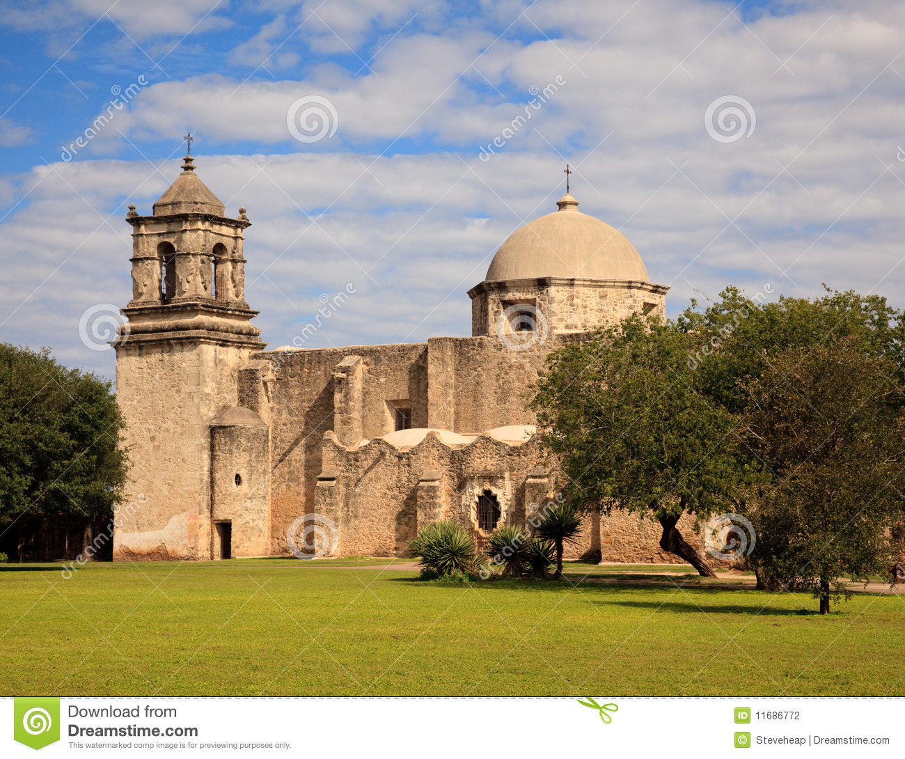 San Antonio Mission San Juan In Texas Royalty-Free Stock
