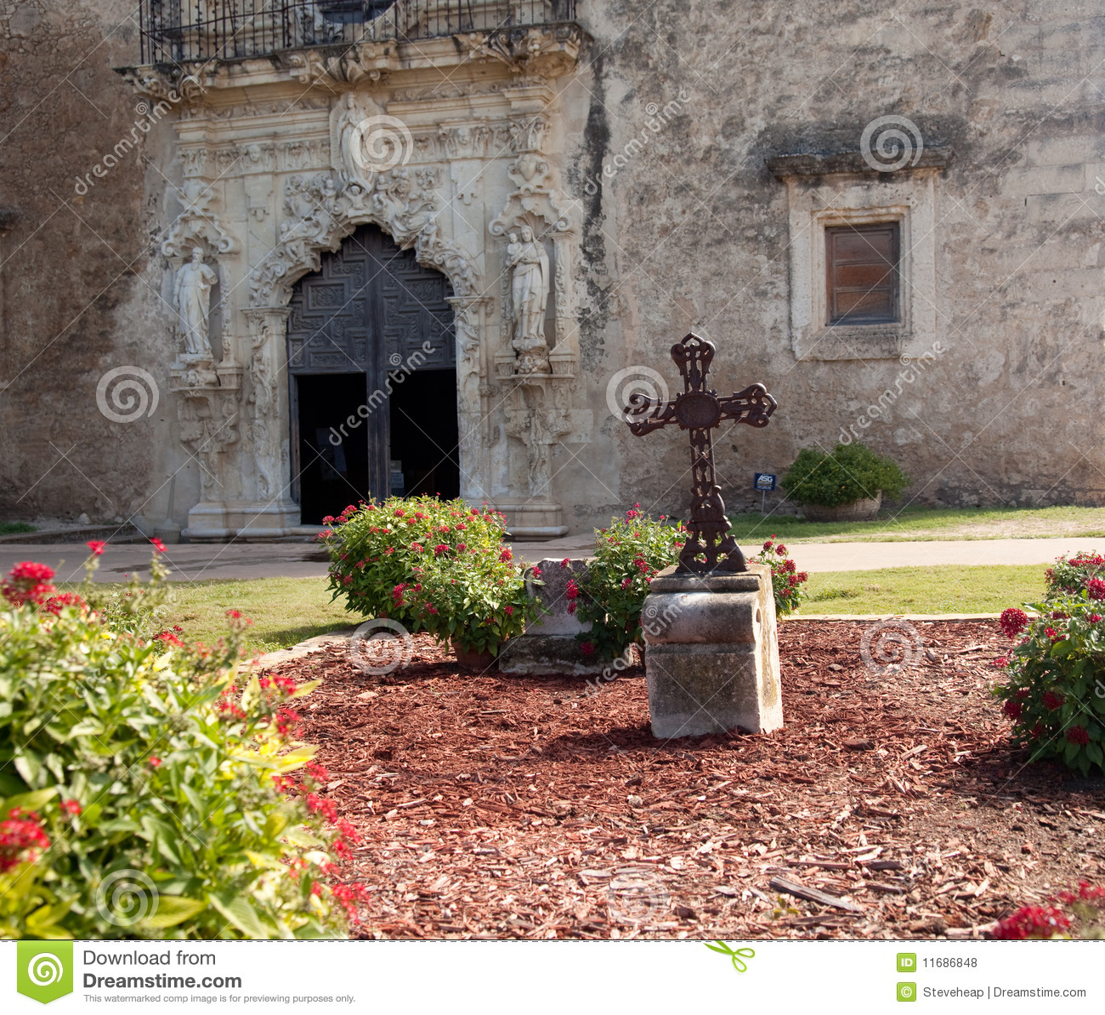 Download San Antonio Mission San Juan In Texas Stock Photo - Image of tourism, blue: 11686848
