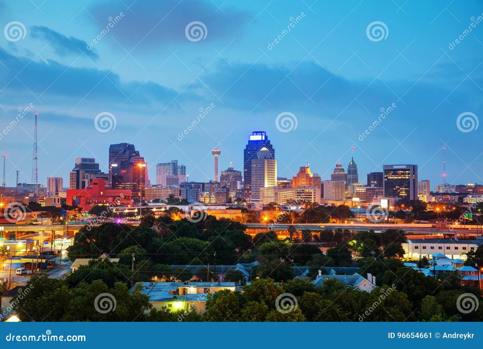 San Antonio, TX-Stadtbild