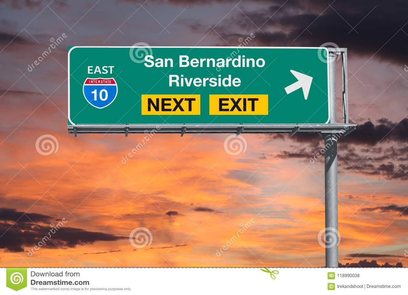 San Bernardino And Riverside California Route 10 Freeway