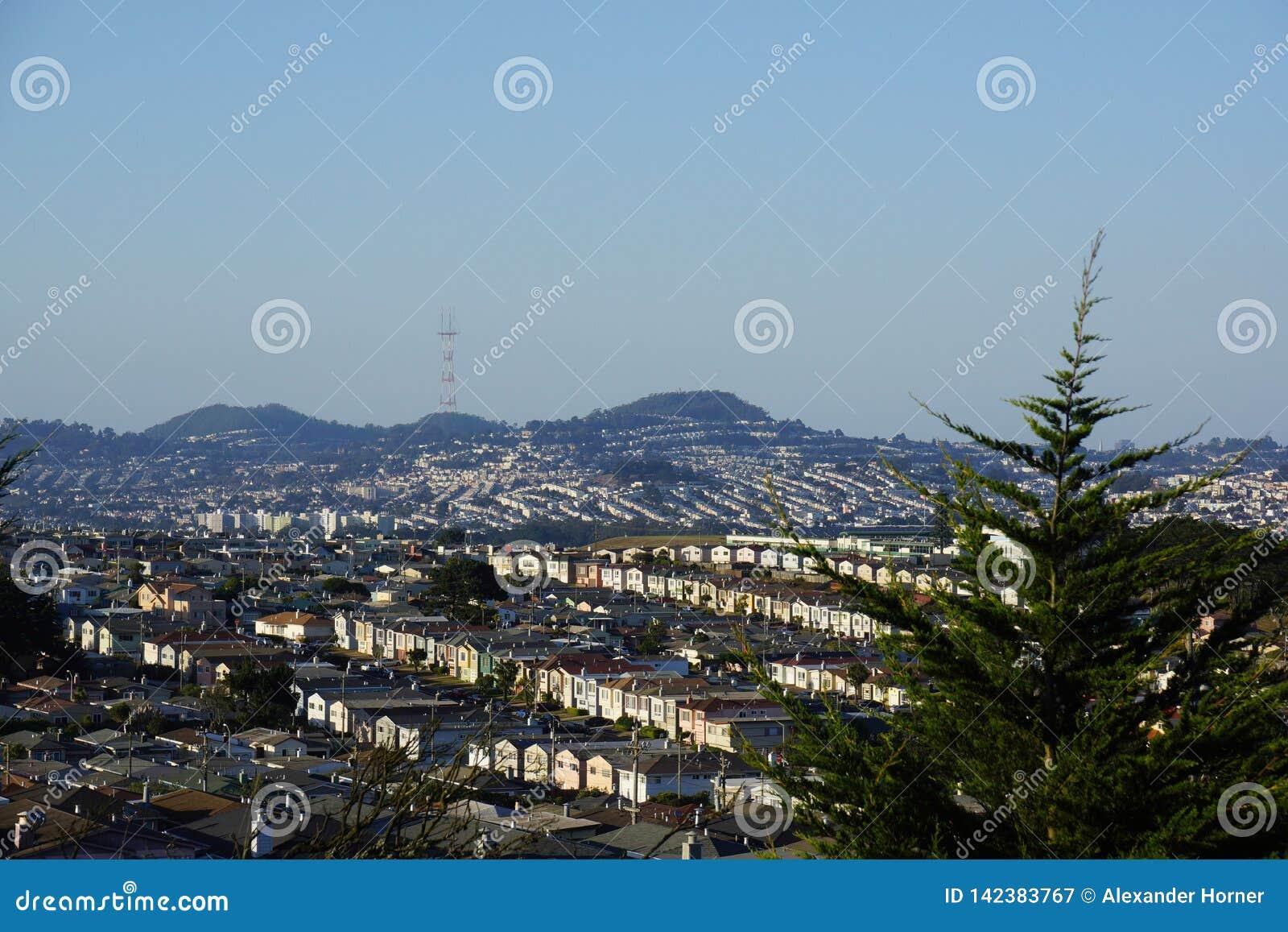 San Bernhadino wzgórzy obszar zamieszkały