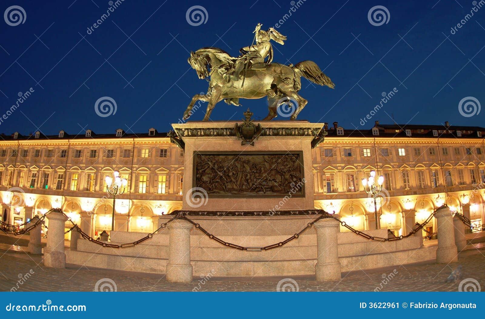 San Carlo square in Turin, IT
