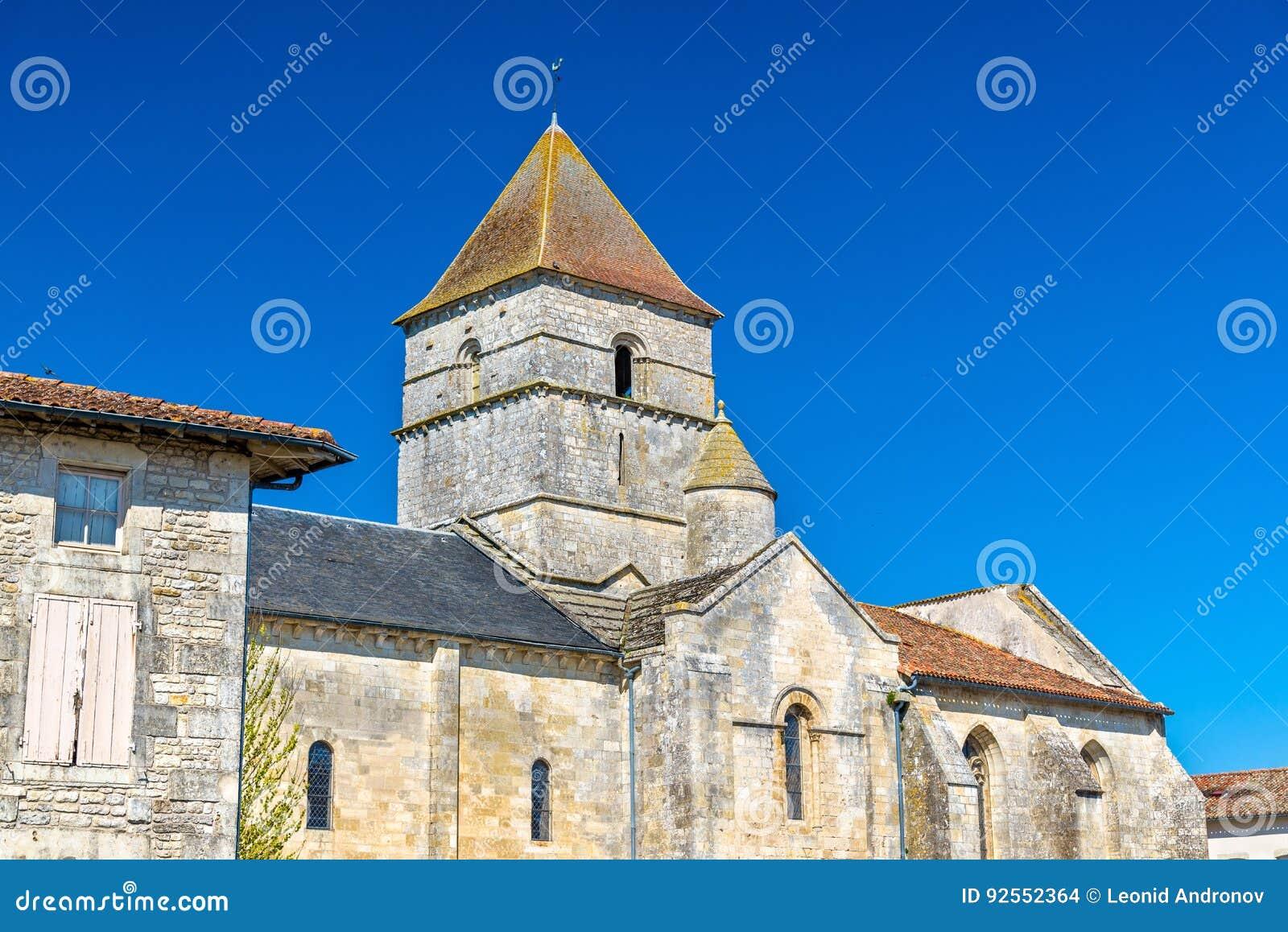 San Chartier della chiesa di Javarzay nel villaggio del cuoco unico-Boutonne, Francia