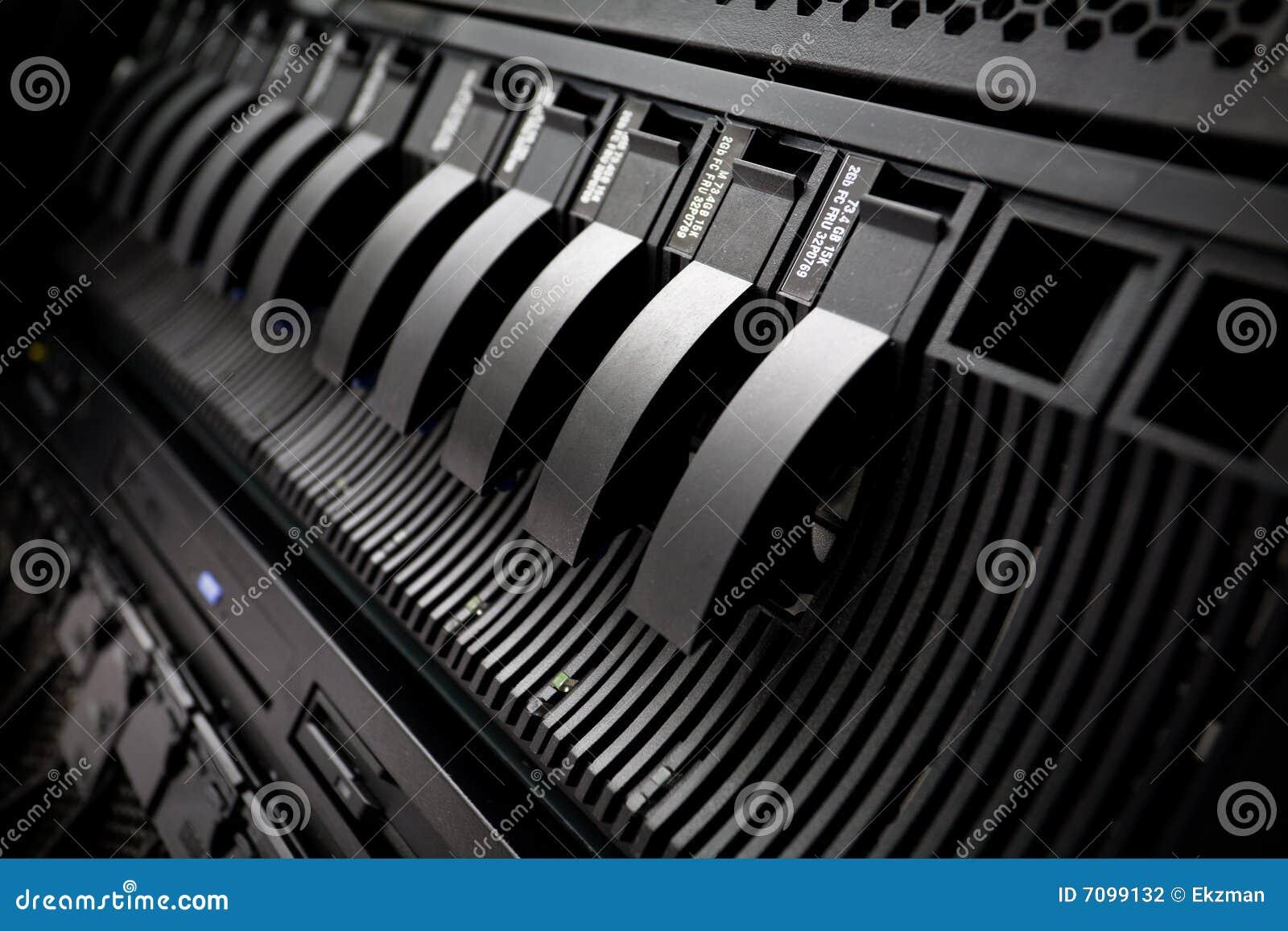 SAN con los mecanismos impulsores duros en estante del servidor