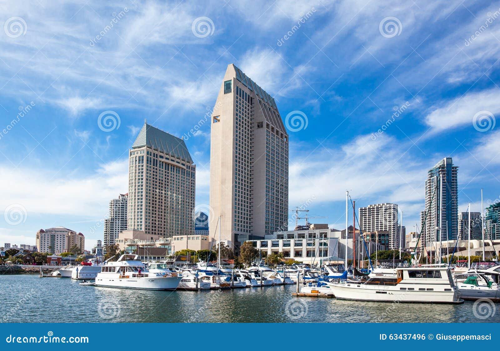 san diego foto editorial imagem de barco vila torre 63437496. Black Bedroom Furniture Sets. Home Design Ideas