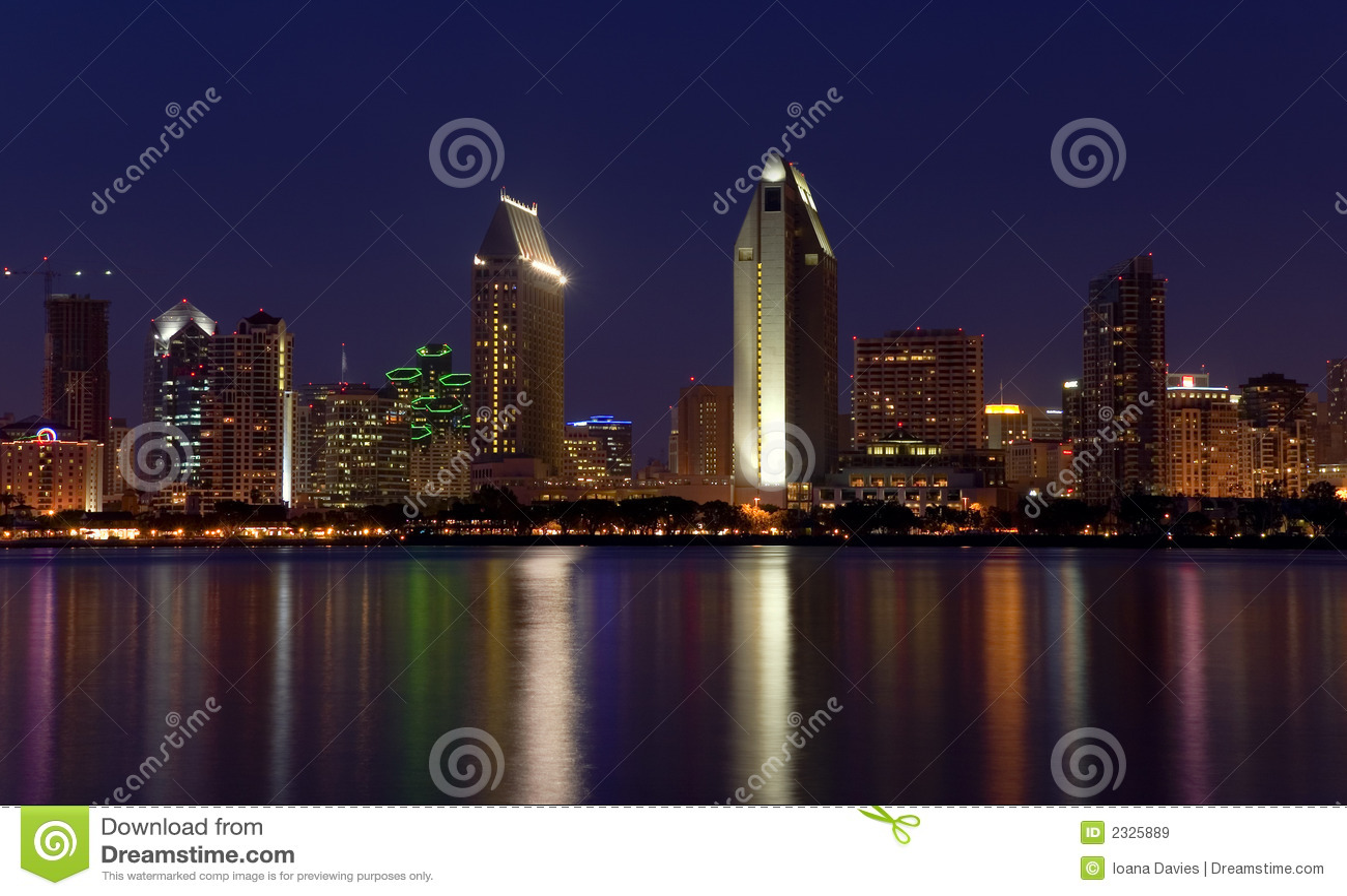 San Diego beleuchtet Panorama