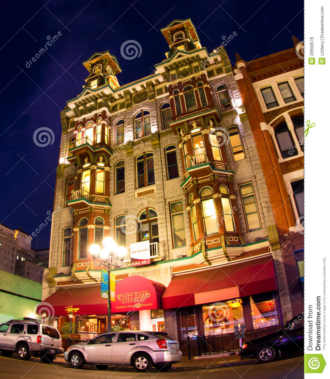 Best Bar Gaslamp District: Gaslamp Quarter San Diego Editorial Stock Photo. Image Of