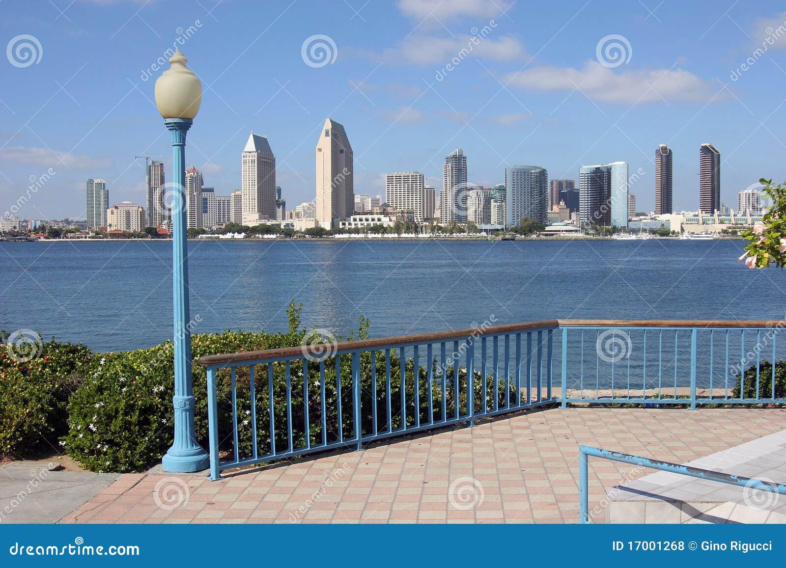 sand diego skyline stock image 53238055. Black Bedroom Furniture Sets. Home Design Ideas