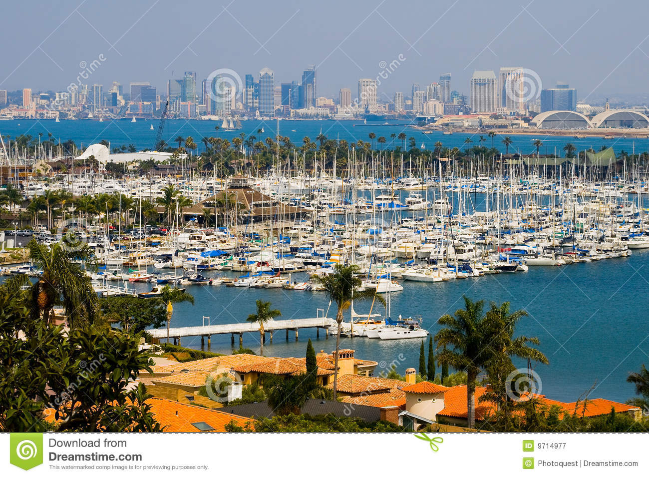 san diego california stock image image of cityscape palm 9714977. Black Bedroom Furniture Sets. Home Design Ideas