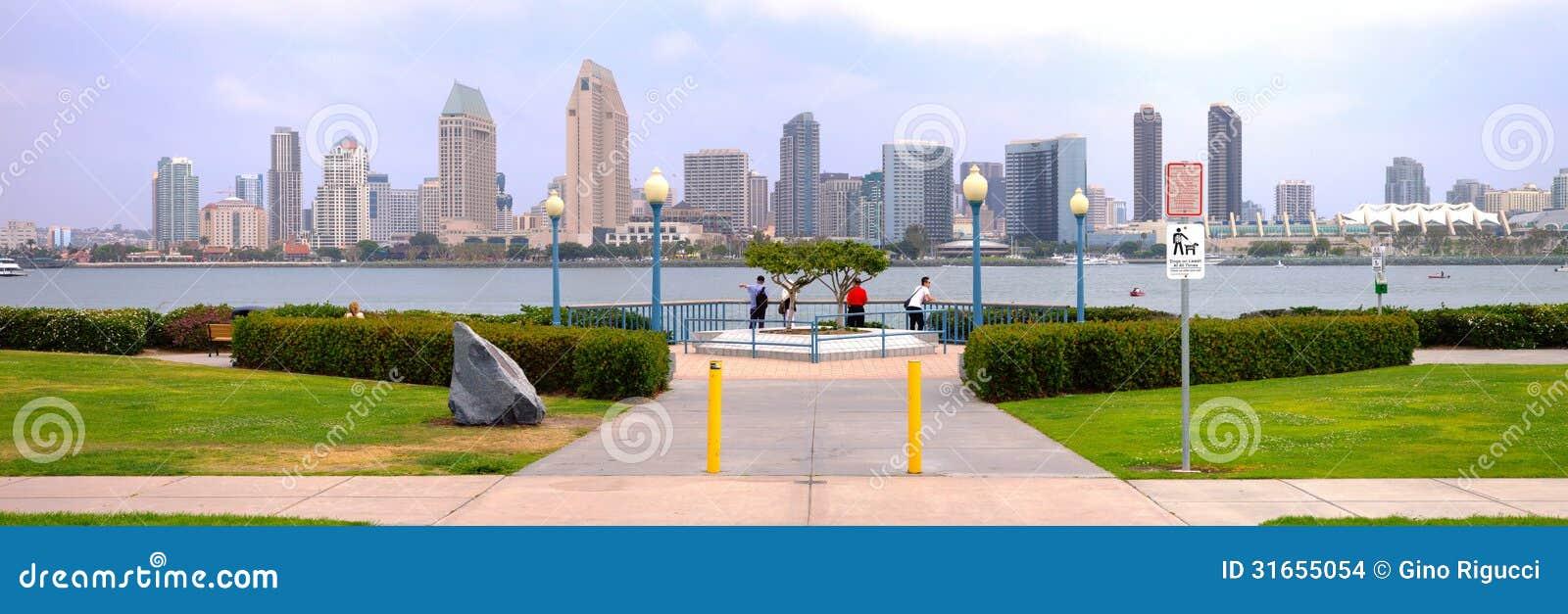 San Diego California panorama.- Editorial.