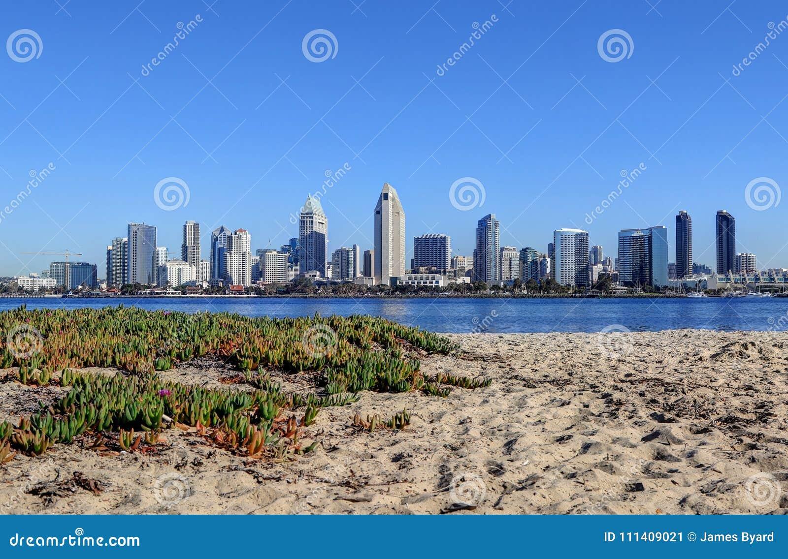 san diego california skyline from coronado island stock image image of district travel. Black Bedroom Furniture Sets. Home Design Ideas