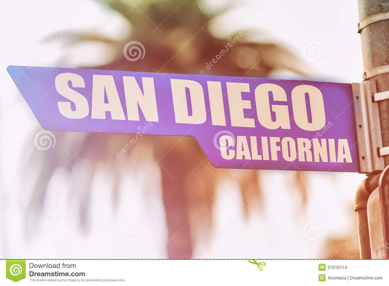 san diego california street sign stock photo image of shopping flare 51010114. Black Bedroom Furniture Sets. Home Design Ideas