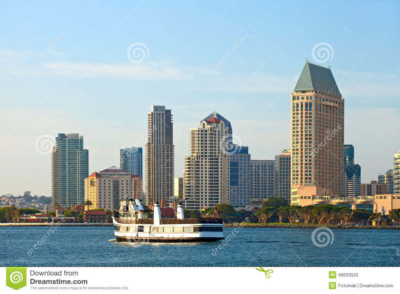 san diego california usa downtown business district buildings stock photo image 49633020. Black Bedroom Furniture Sets. Home Design Ideas