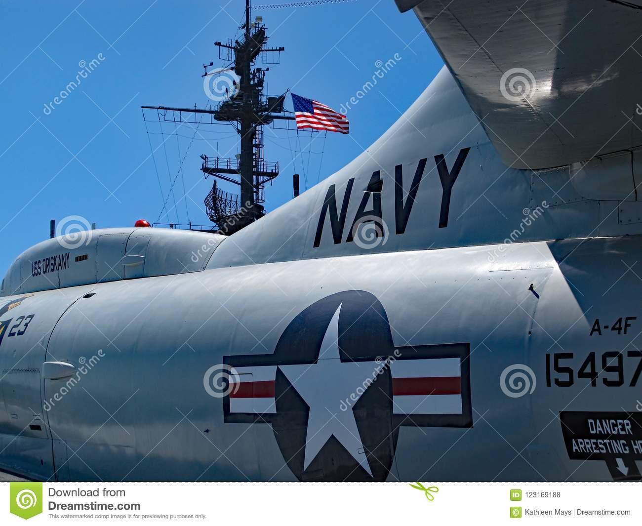 United States Navy Jet on USS Midway Museum