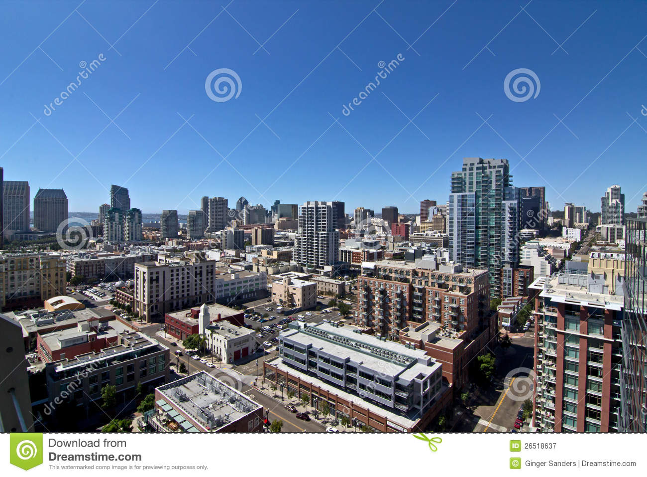 San Diego City Buildings Skyline