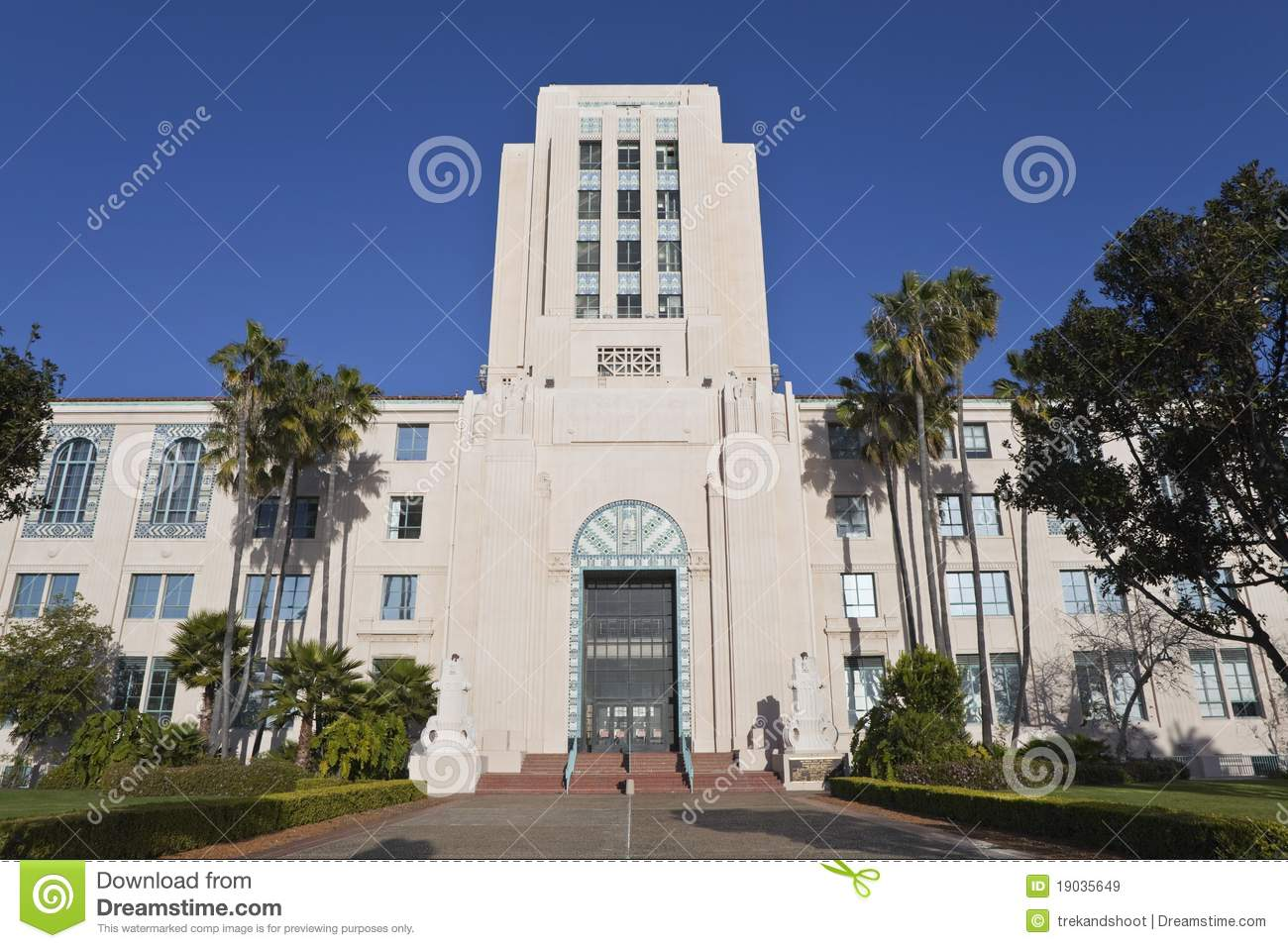 San Diego City Hall stock image. Image of administration ...