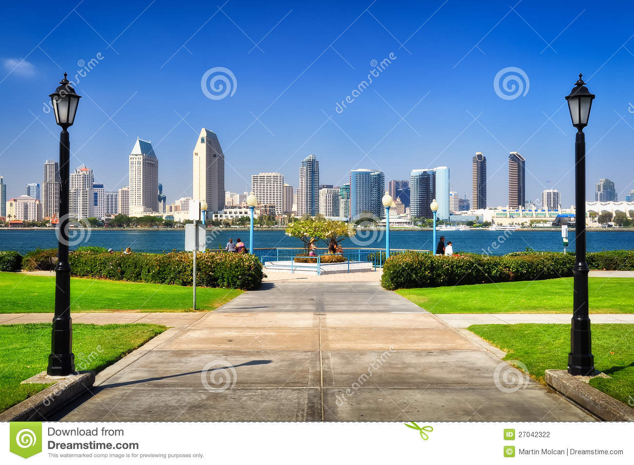 san diego city view from the park stock photo image of. Black Bedroom Furniture Sets. Home Design Ideas