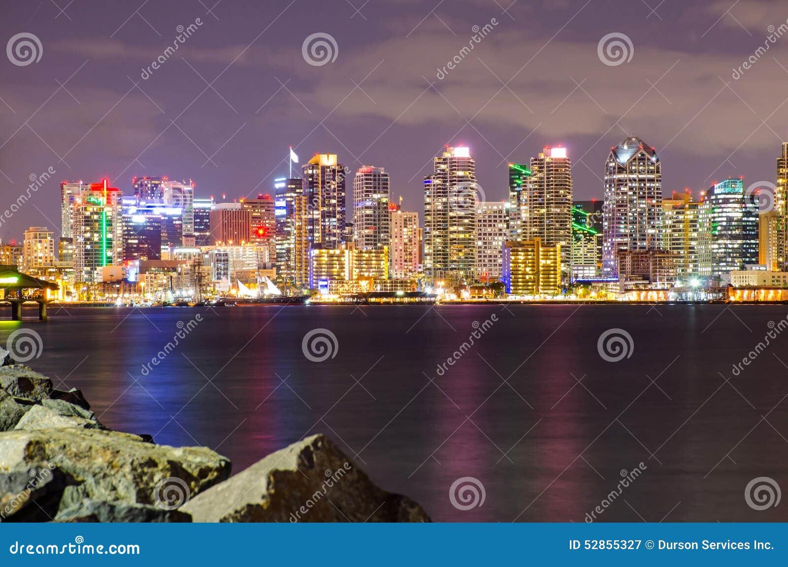 San Diego Downtown la nuit