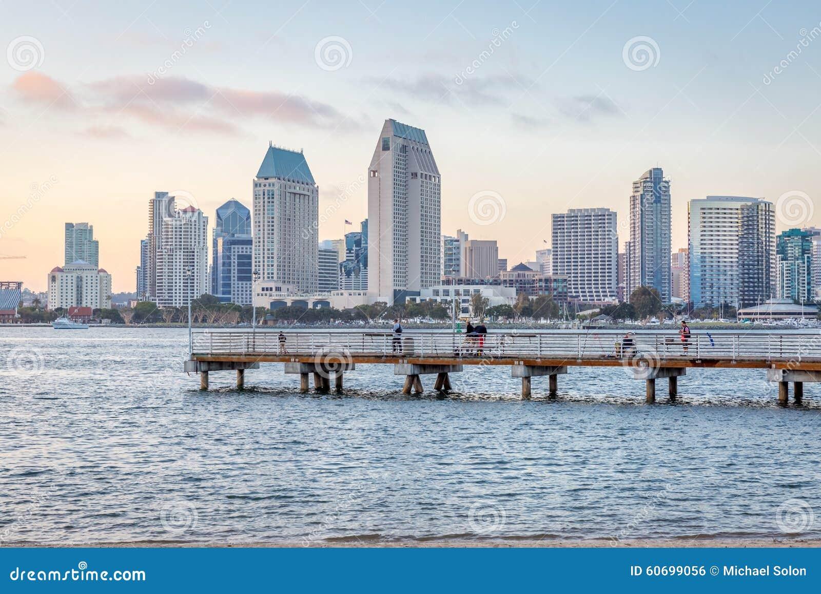San Diego Downtown Skyline Day Shot