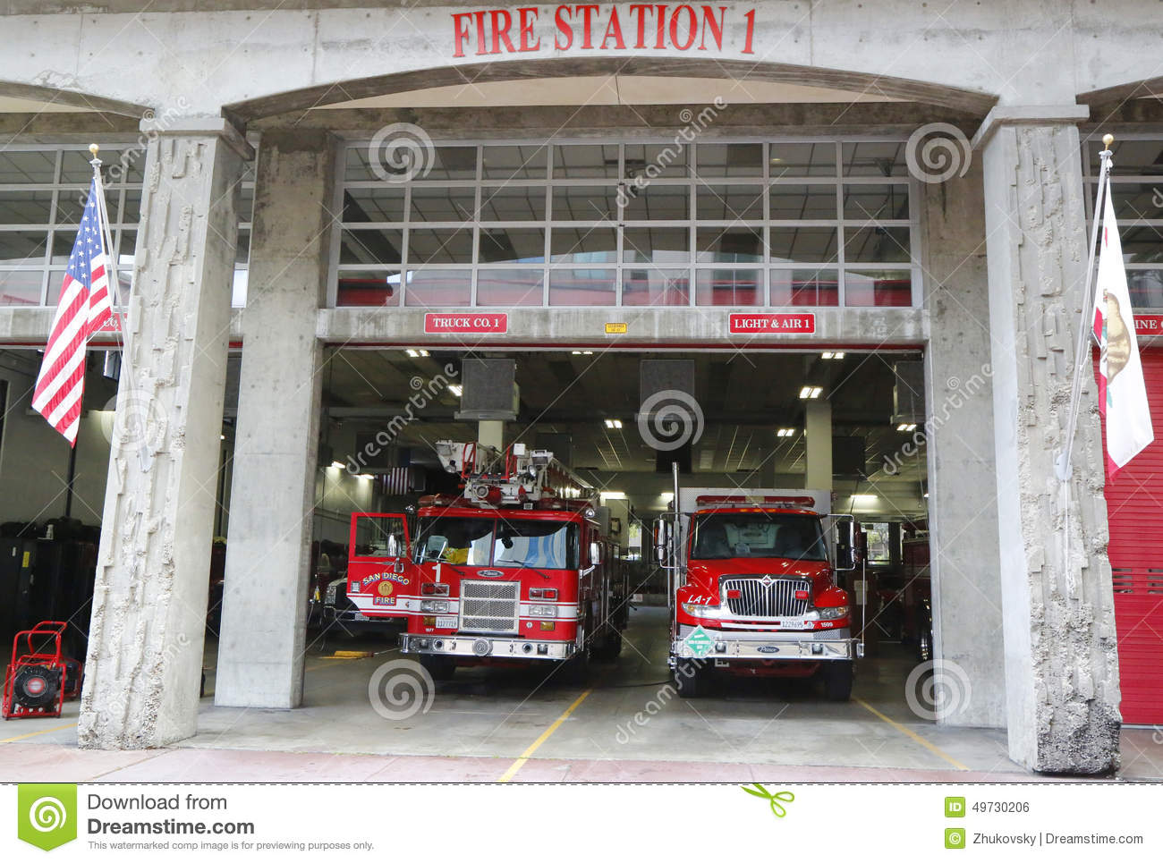 Diego fire rescue department fire station 1 in san diego california