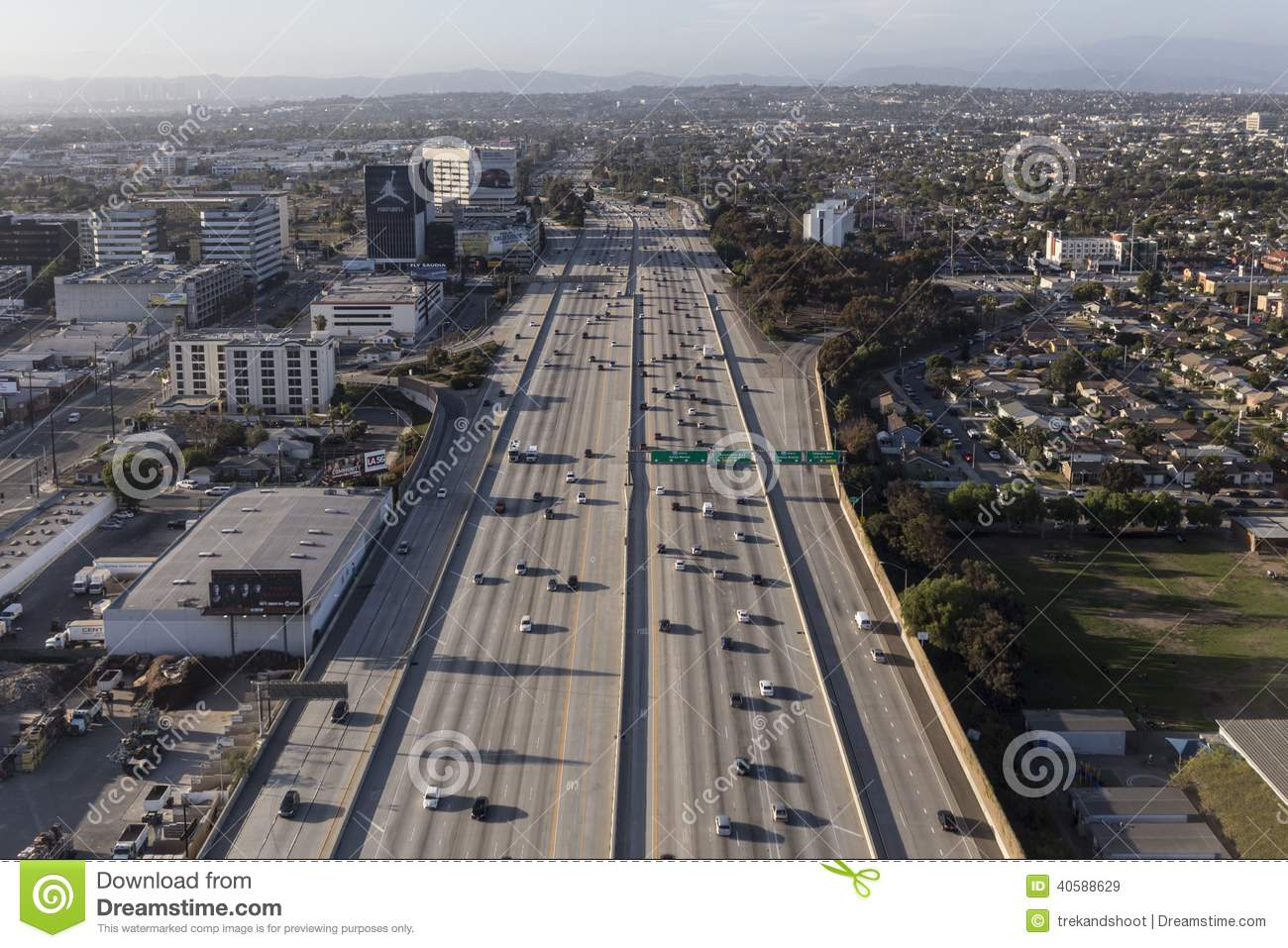 San Diego  Freeway In Los Angeles Editorial Image Image - Los angeles freeway map traffic
